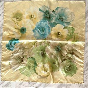 """Salvatore Ferragamo Silk Scarf Floral 16"""" Square"""